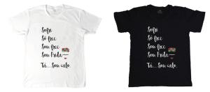 Camisetas e caneca à venda em www.useblug.com.br.